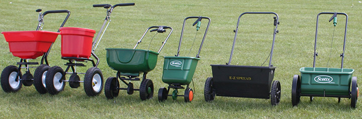 Different types of grass seed spreader - Boston Seeds