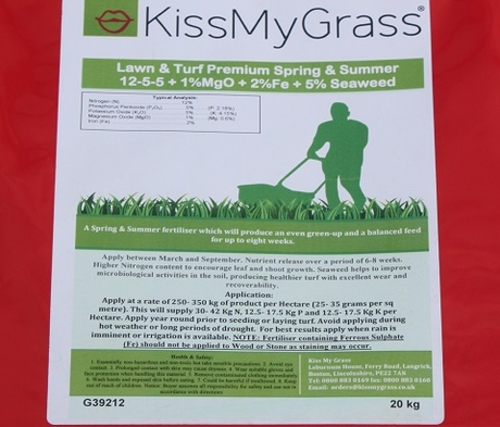 BS Premium Spring & Summer Lawn and Sportsfield Fertiliser 12.5.5+